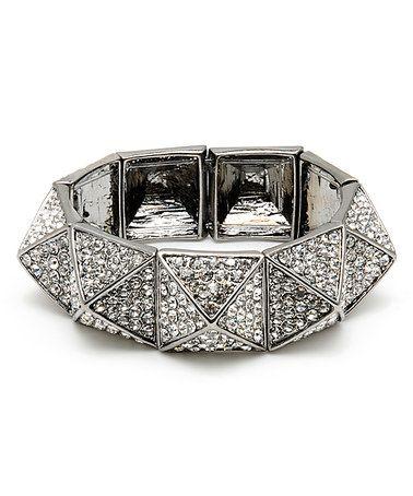 Love this Austrian Crystal & Silvertone Kate Stretch Bracelet on #zulily! #zulilyfinds