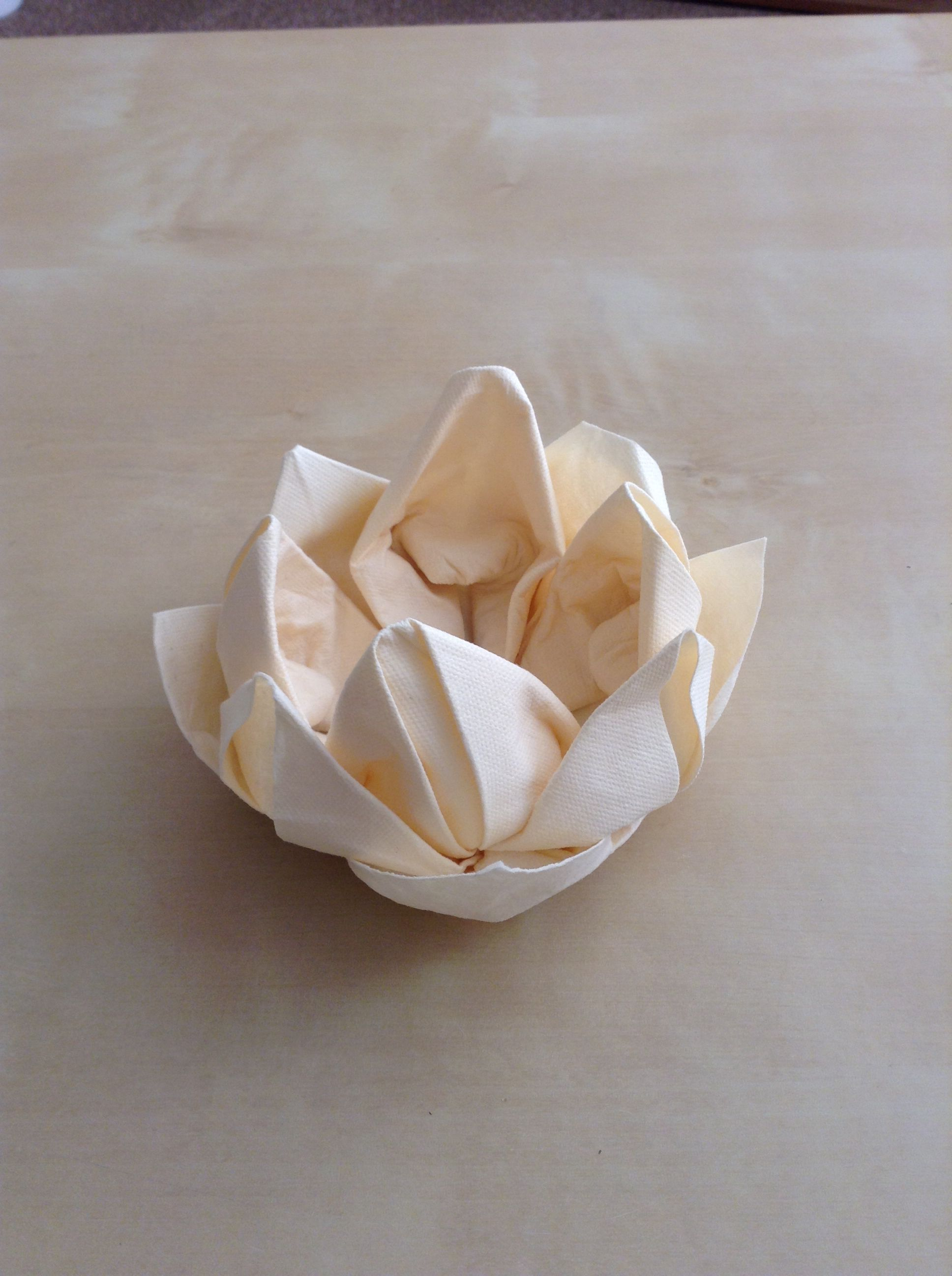 Origami napkin