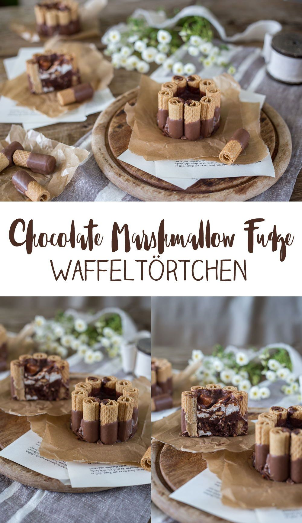 Chocolate Marshmallow Fudge Waffeltörtchen und Sweet on