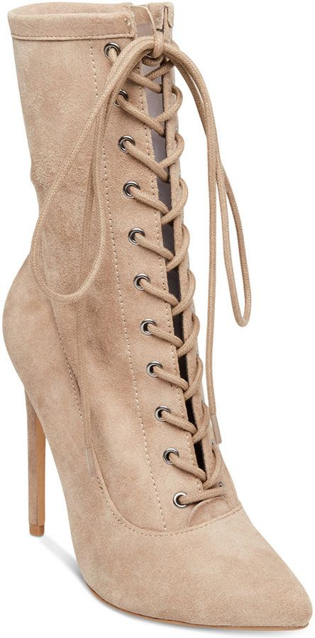 ae4dd21f0f91 Steve Madden Women s Satisfied Lace-Up Stiletto Booties