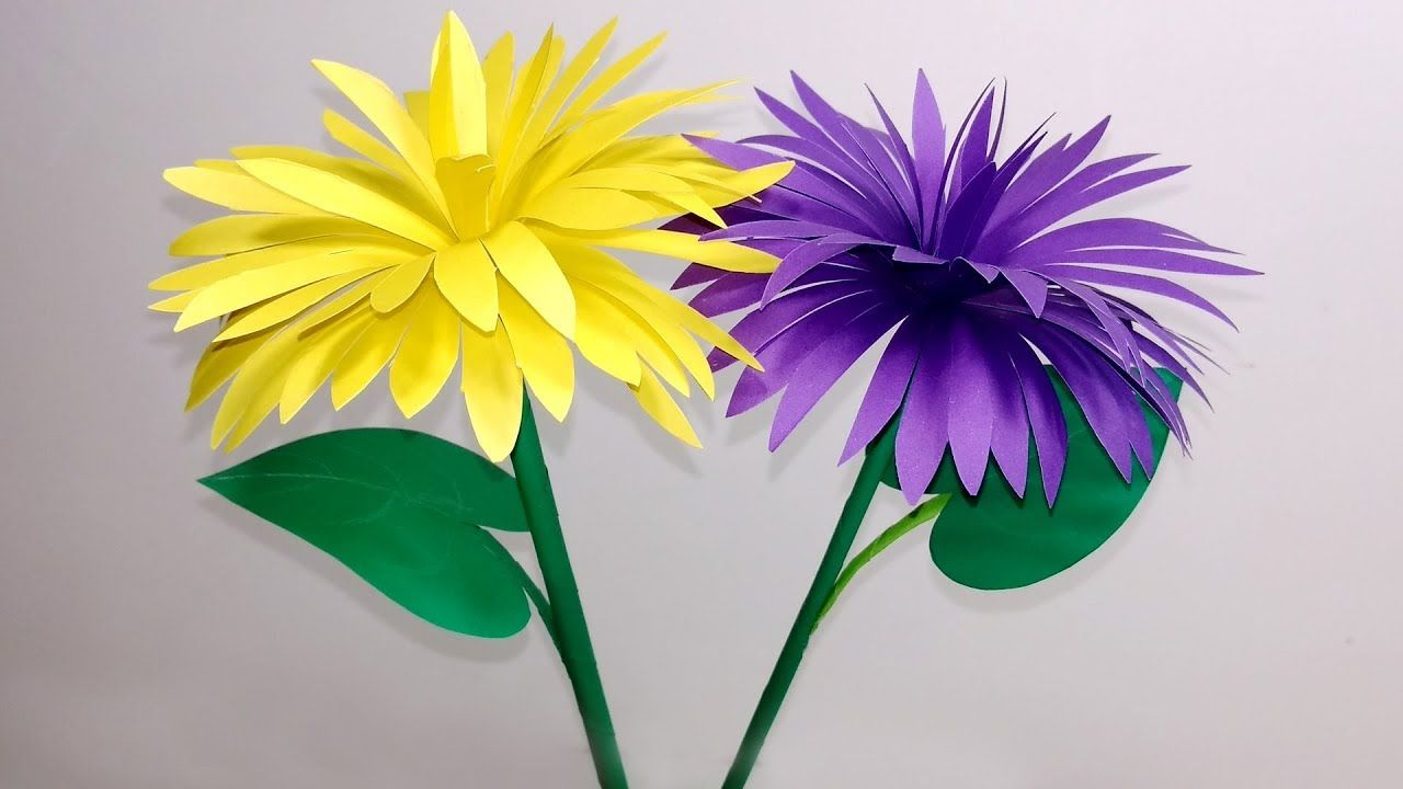 Stick Flower How To Make Stick Flower Making Paper Flowers Step