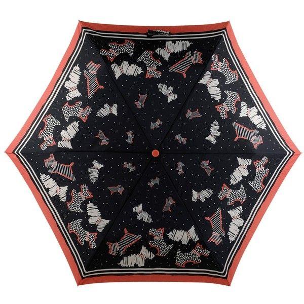 Radley Fleet Street Mini Umbrella, Black/Multi ($32) ❤ liked on Polyvore featuring accessories, umbrellas, radley, mini umbrella, dog umbrella, black umbrella and dog print umbrella