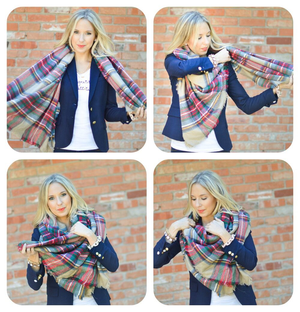 Ways to Wear The Blanket Scarf & Video | clothes, shoes ...