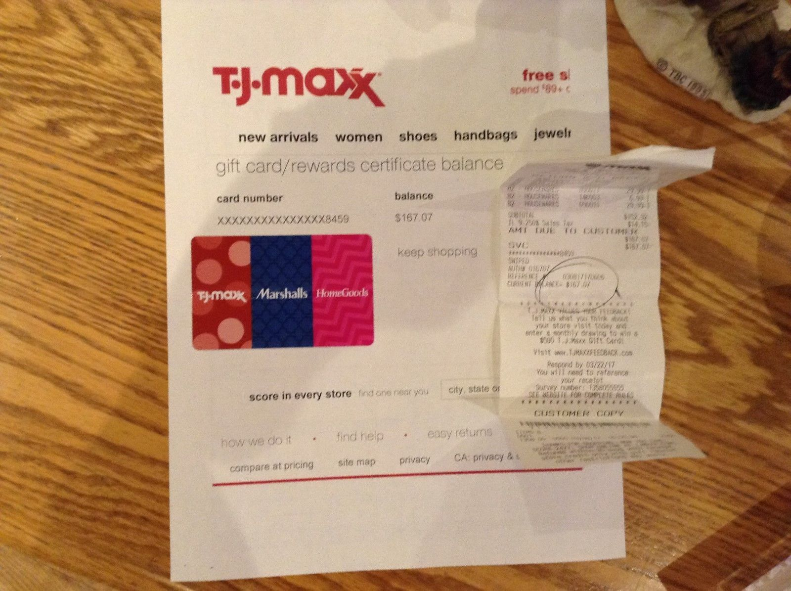 Coupons #GiftCards TJ-MAXX/MARSHALLS/HOMEGOODS GIFT CARD WITH A ...