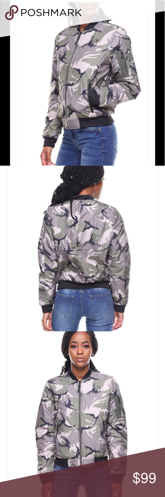 1bbfb1139 The North Face Barstol Bomber Camo jacket NWT Love love love this ...