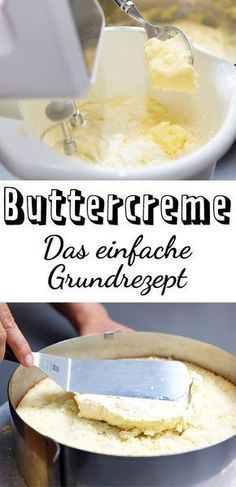 Buttercream - recipe for making your own   - Kuchen -