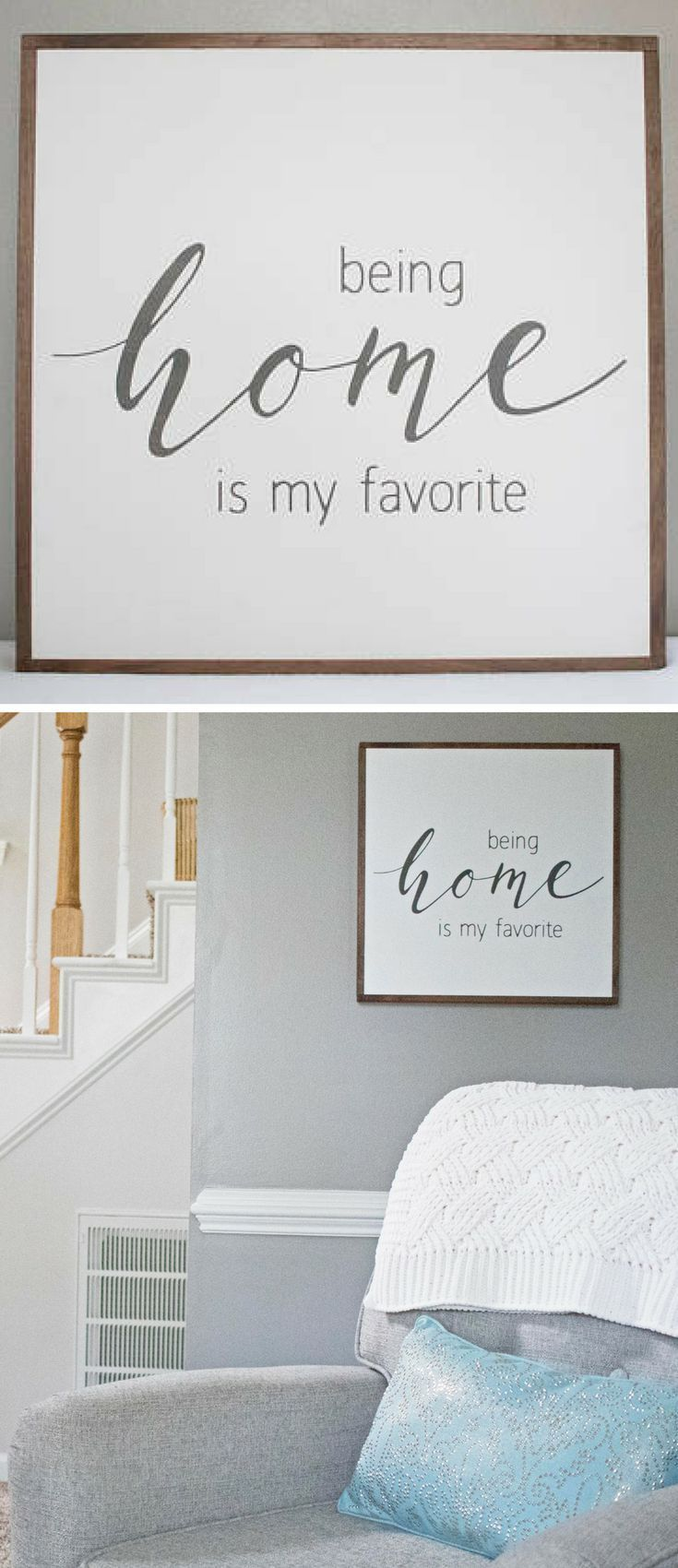 Home sign being home is my favorite rustic wood sign farmhouse
