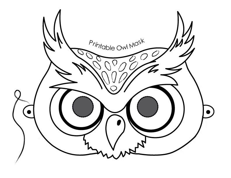 Owl printable template az coloring pages schooling for Children s mask templates