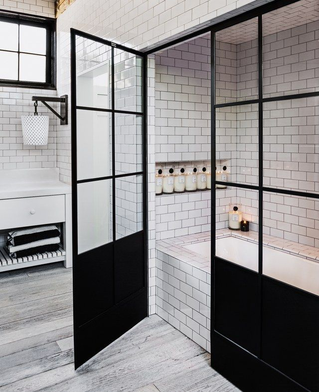 diane keaton's incredible bold brick la home  bathrooms