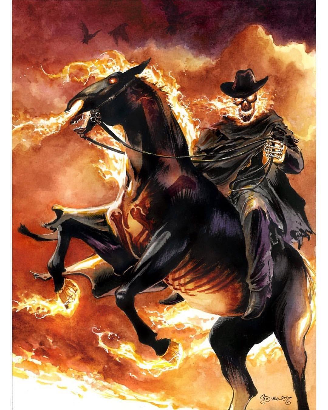 1961 Perry Rhodan: Ghost Rider By Daniel Govar #watercolor #ink