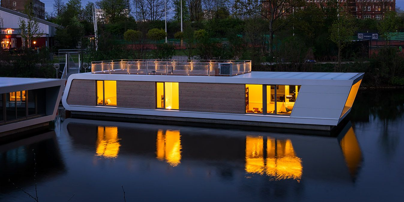 floating architecture hamburg dream homes pinterest floating house floating architecture. Black Bedroom Furniture Sets. Home Design Ideas
