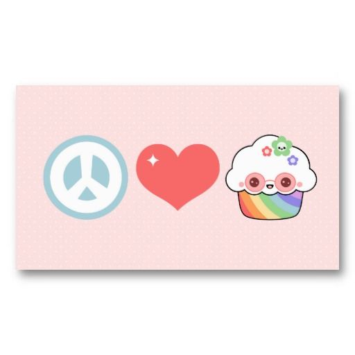 Peace love and cupcakes business card template cute cupcake peace love and cupcakes business card template cheaphphosting Image collections