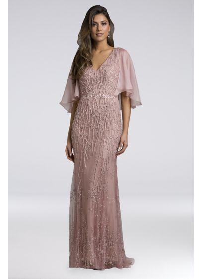 e5db3751e31 Long Mermaid  Trumpet Capelet Formal Dresses Dress - Lara