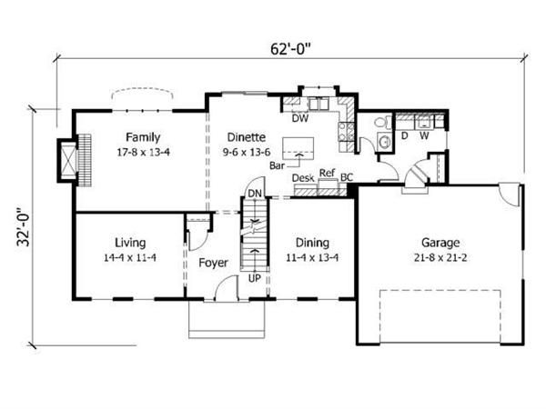 attached garage idealaundry room would be mud room Floor Plans