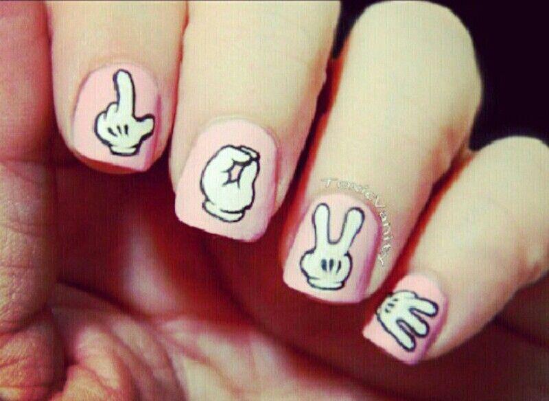 Uñas mano de mickey !!! Geniales!! | uñas | Pinterest | Manos de ...