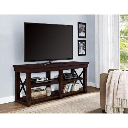 Ameriwood Home Wildwood Wood Veneer Tv Stand For Tvs Up To 50 Inch