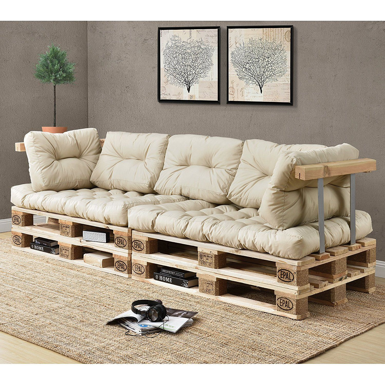 Rückenkissen Für Euro Paletten Sofa Creme Diy Möbelzubehör Für Garten Vieles Mehr Durch Die Unem Palettenmöbel Im Freien Paletten Kissen Holzpaletten Möbel