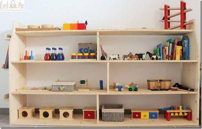 Rangements Jouets Montessori Etagere Chambre Enfant Amenagement Chambre Enfant Rangement Jouet Enfant