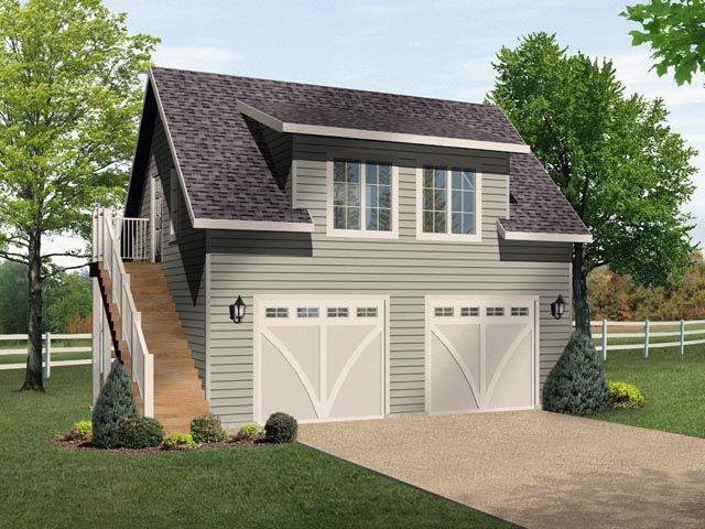 2 Car Garage Apartment Plan Number 49036 With 1 Bed 1 Bath Garage Guest House Garage Loft Prefab Garages