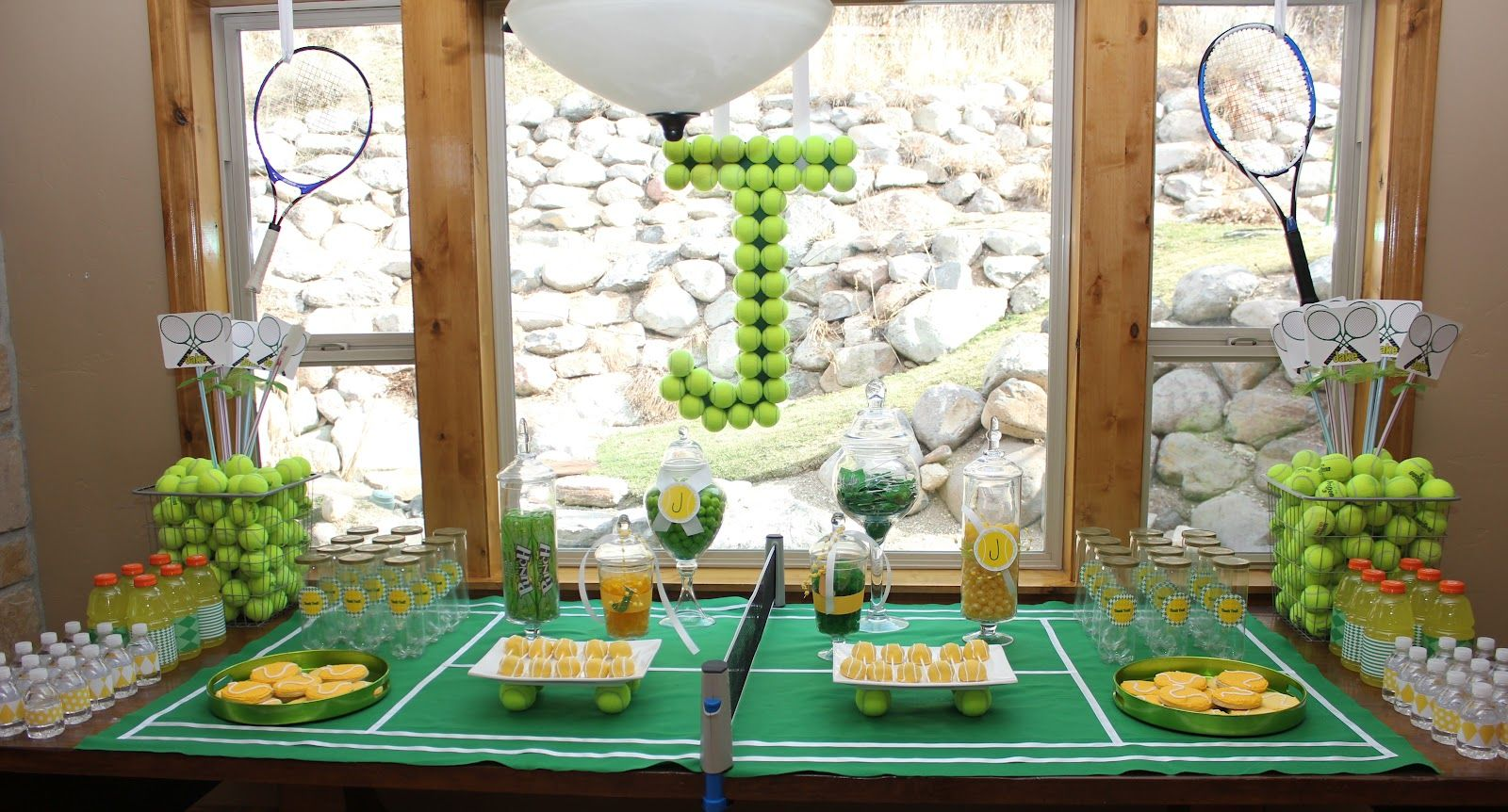 Tennis Party, Bar Mitzvah, Event Ideas, Banquet Ideas, Tennis Decorations,  Party Decoration Ideas, Centerpiece Ideas, Parties Decorations, Centerpieces
