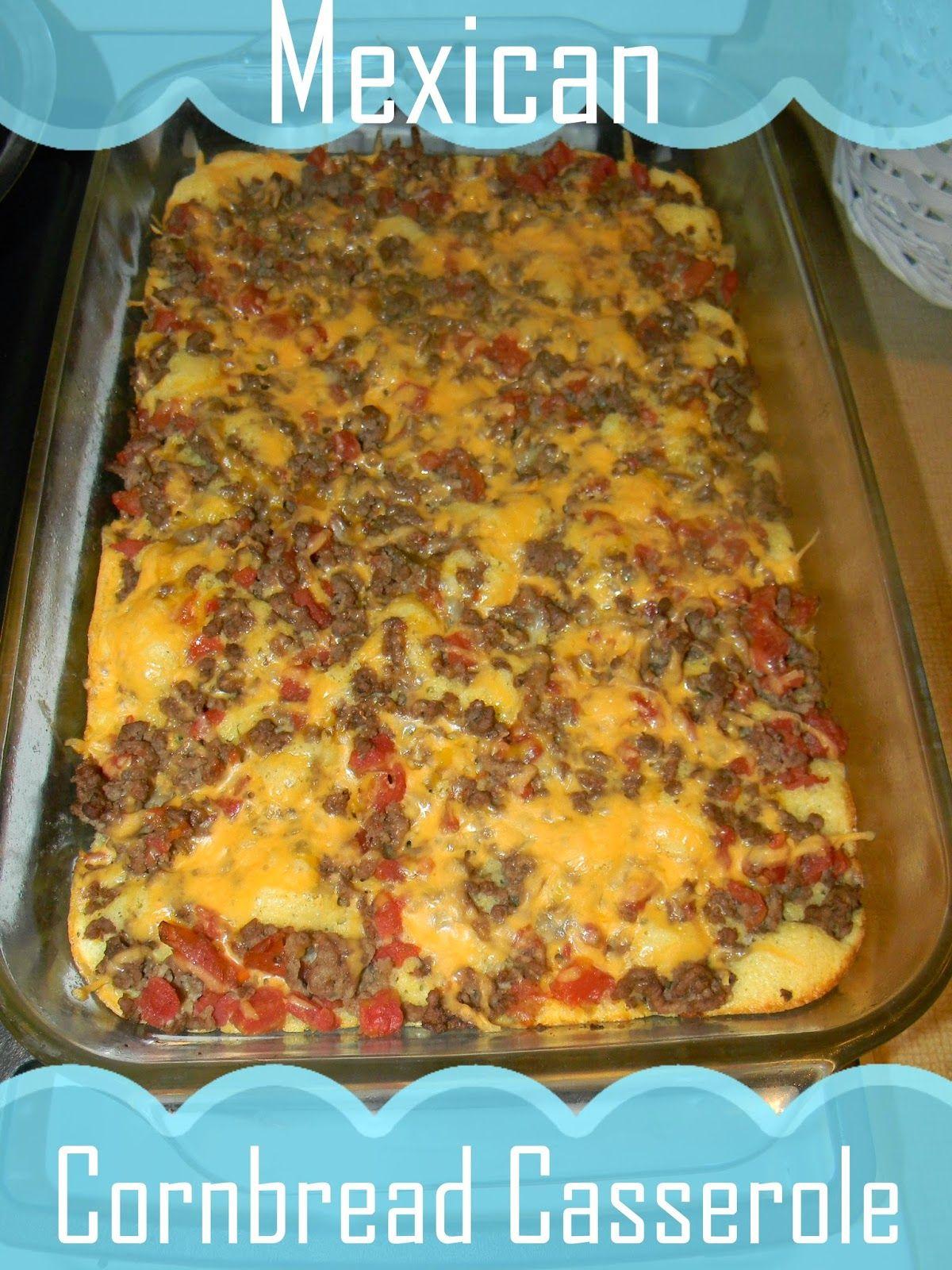 recipe: mexican cornbread casserole recipe ground beef [1]