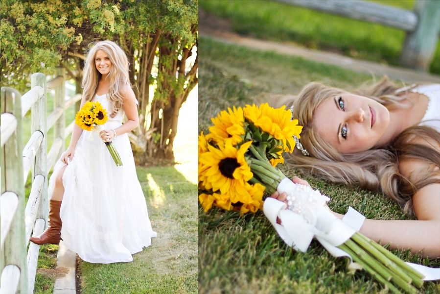 vintage bride wedding dress sunflower yellow wedding colors outdoor wedding in oak glen www.canarylanephotography.com Photography Home Page