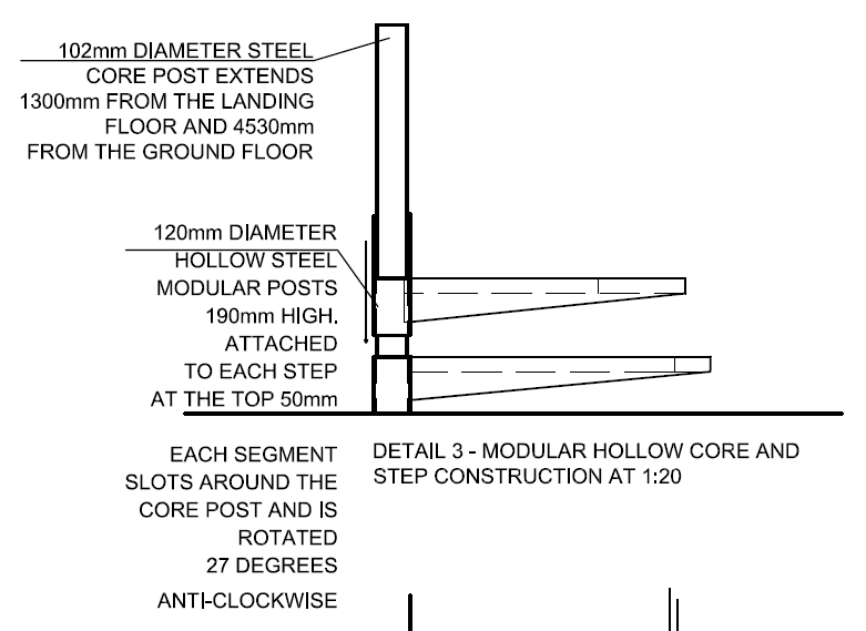 how to draw a spiral staircase elevation
