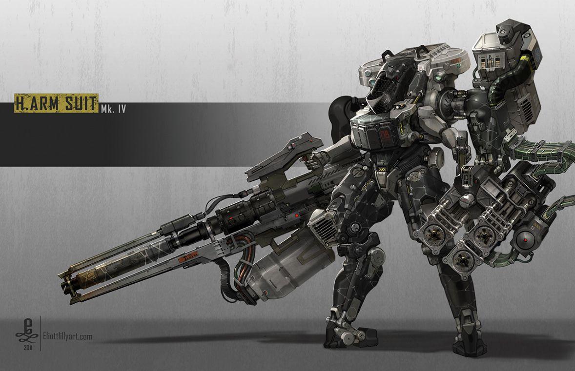 concept robots: H.ARM SUIT robots by Eliott Lilly