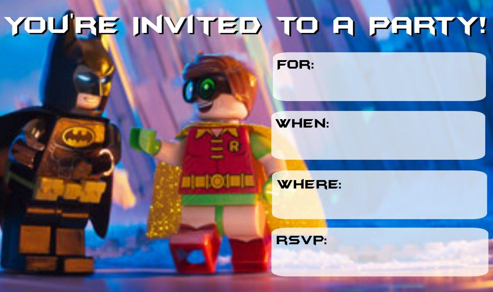 free lego batman party printables | Drew\'s Birthday | Pinterest ...