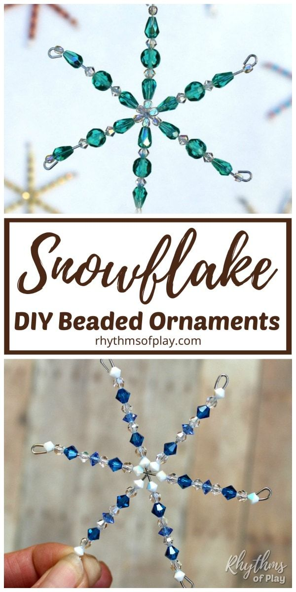 Photo of How to Make Beaded Snowflake Ornaments – VIDEO TUTORIAL | RoP