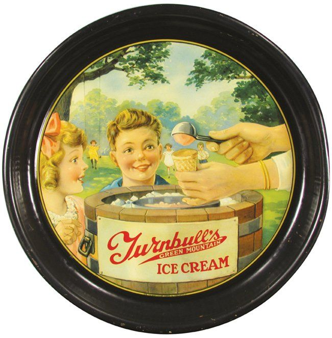 Turnbull's Green Mountain Ice Cream Serving Tray : Lot 932