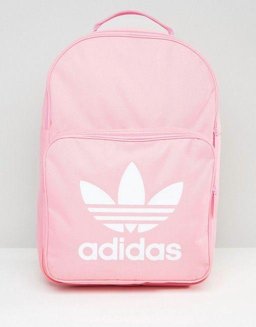 adidas Originals Trefoil Logo Backpack In Pink | Backpacks