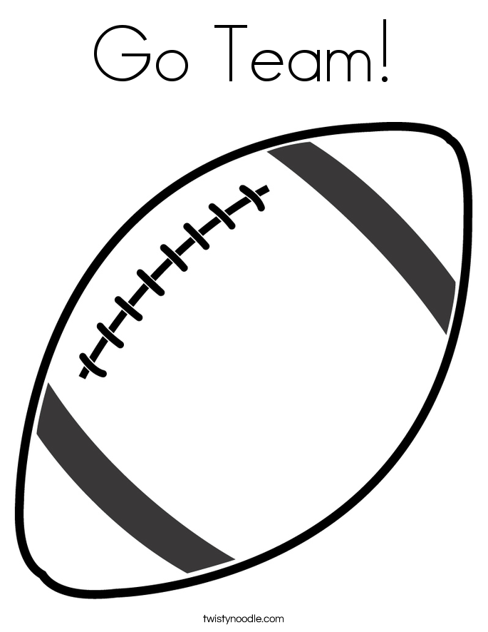 Image result for football coloring page | Crafts | Pinterest | Cheer ...