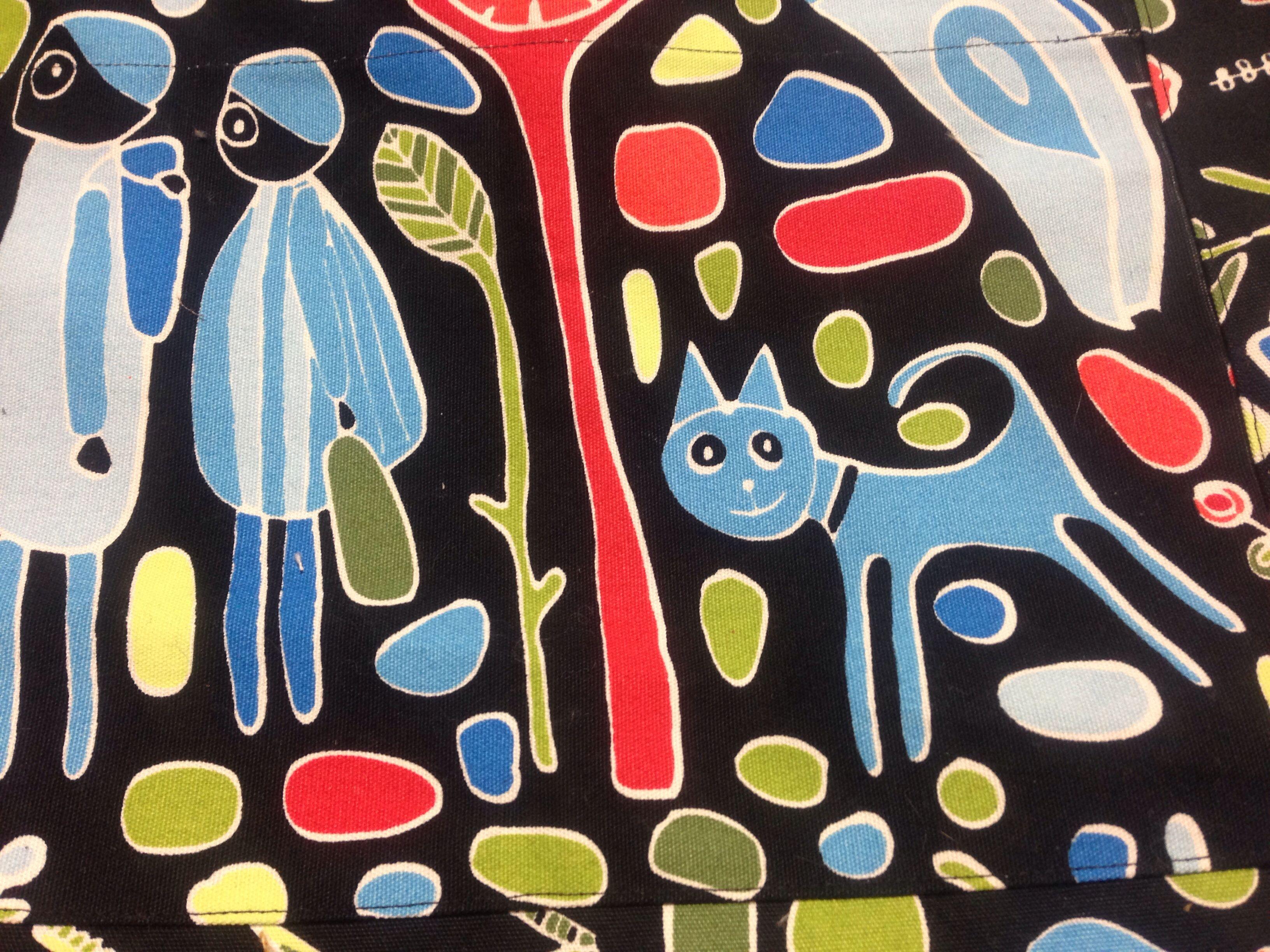 Detail 1 van draagtas voor mezelf - stofje van de Ikea.