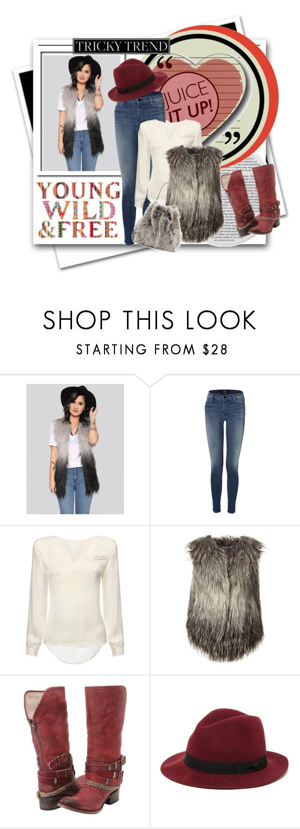 """""""Young wild & free...."""" by tinuviela ❤ liked on Polyvore featuring J Brand, Diesel, Freebird, Sole Society and fauxfurvest"""