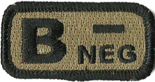 "Tactical Blood Type Patches - ""Type B Negative"" - 2""x1"" (Coyote Tan) Gadsden and Culpeper, http://www.amazon.com/dp/B0081BD9FI/ref=cm_sw_r_pi_dp_6zmdrb02XJ7NK"
