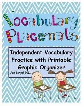 FREEBIE: Vocabulary Placemat Graphic Organizer:)