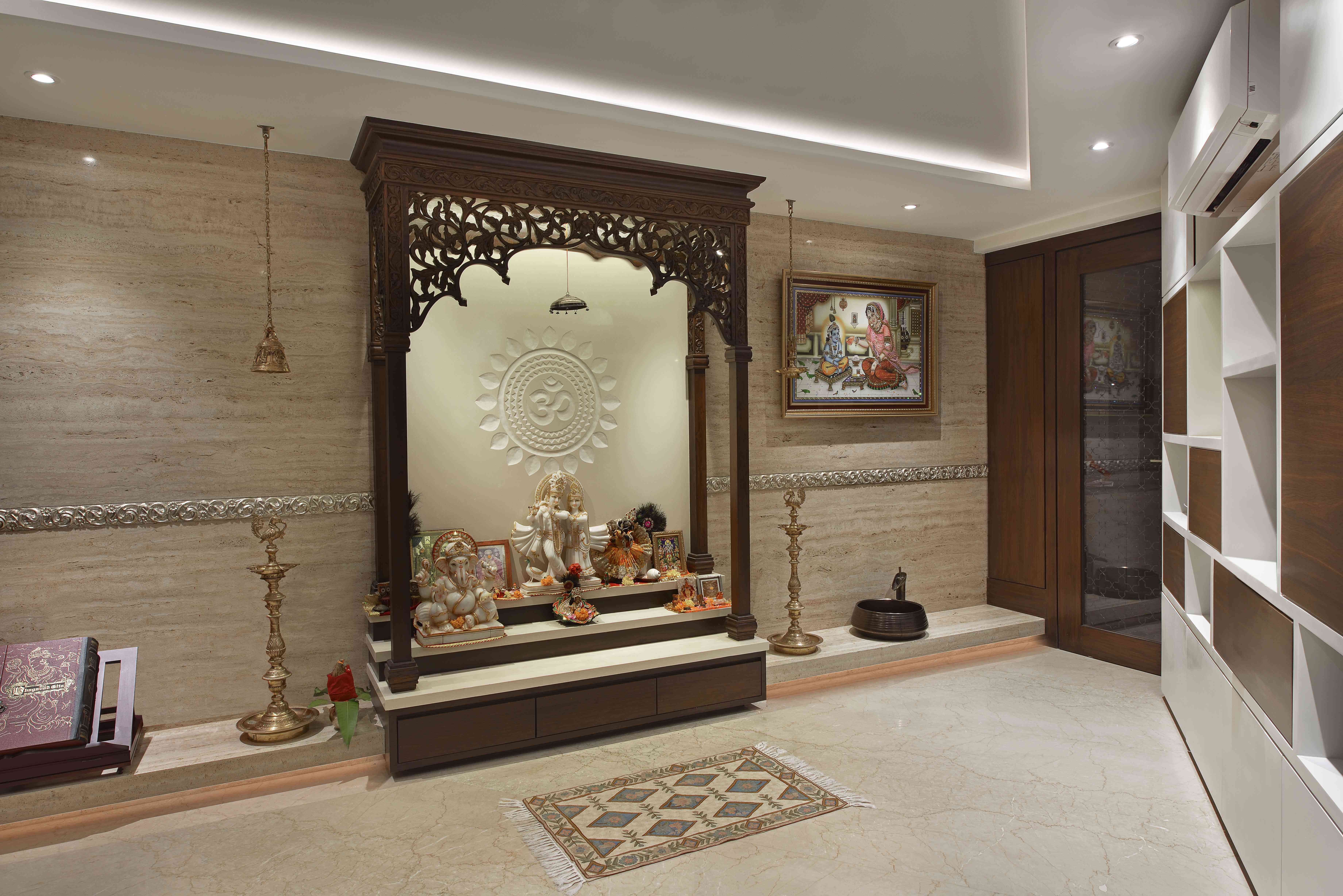 mandir in living room | www.myfamilyliving.com