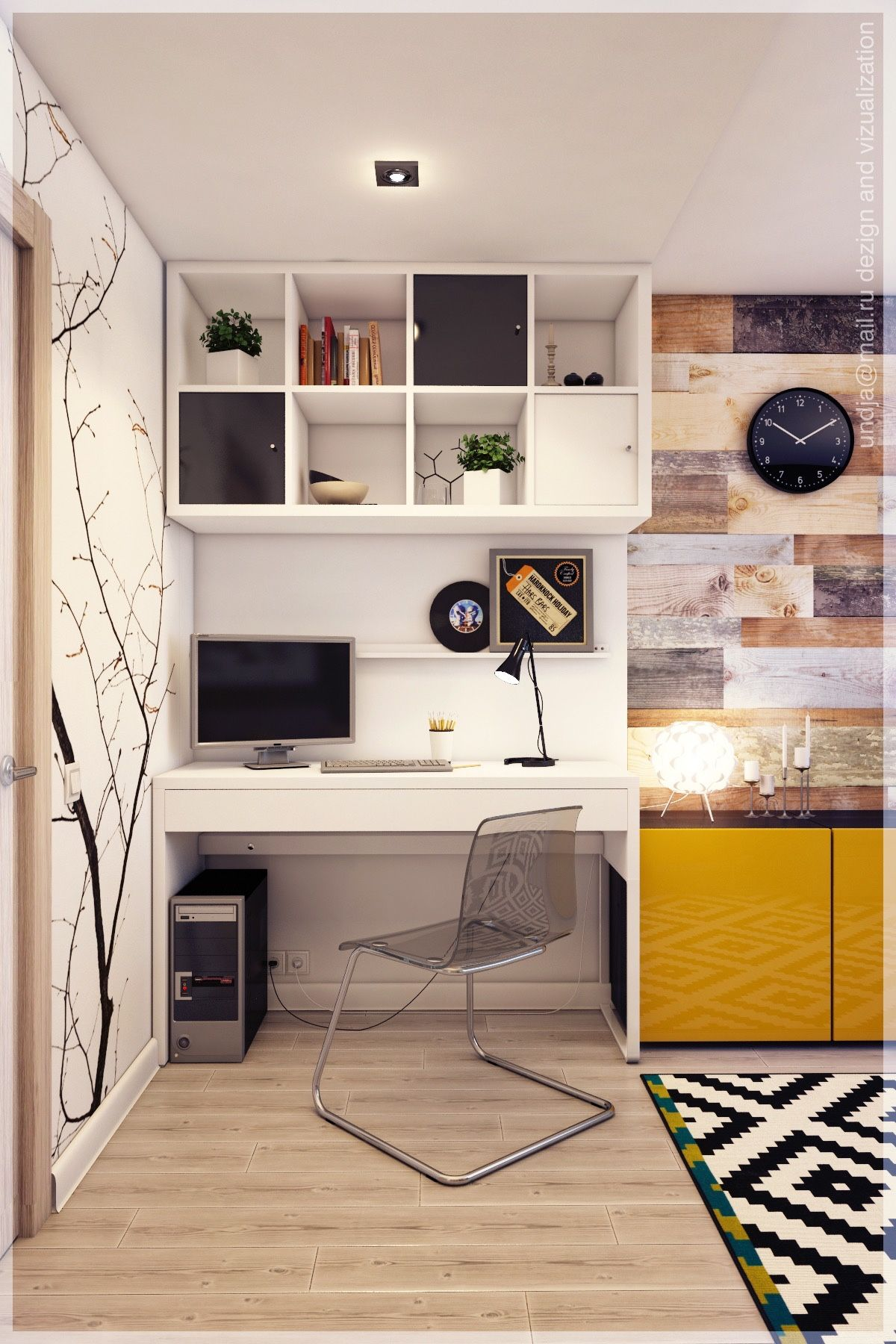 20 id es pour agencer et d corer un bureau moodboards pinterest bureau avec tag re. Black Bedroom Furniture Sets. Home Design Ideas