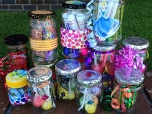 My Little Party Planner Tombola Jars Christmas Fair Ideas