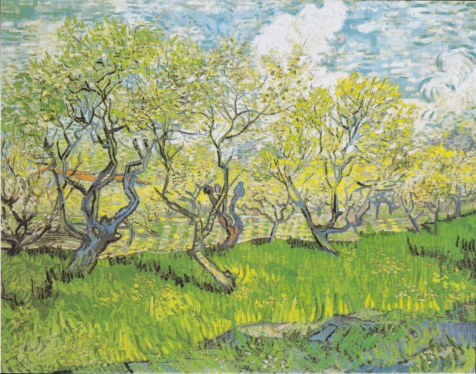 Orchard in Bossom, 1888, HD