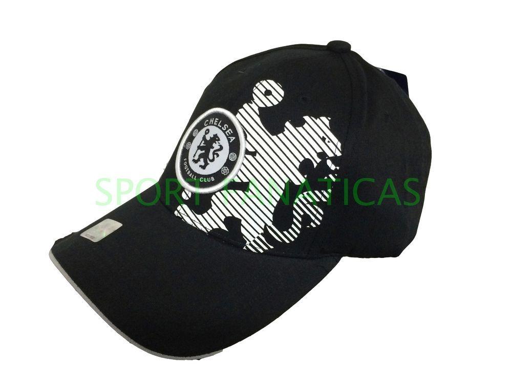 396ce651388 CHELSEA FC CAP HAT SOCCER AUTHENTIC 100% official merchandise BLACK NEW  SEASON  RHINOX  Chelsea