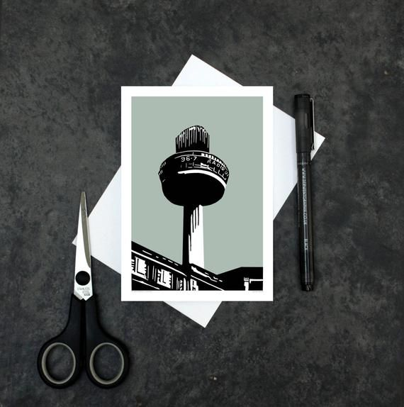 Liverpool Greeting Card Liverpool Radio City Tower Card St John S Beacon Card Architectural Li In 2020 Greeting Cards Cards Liverpool