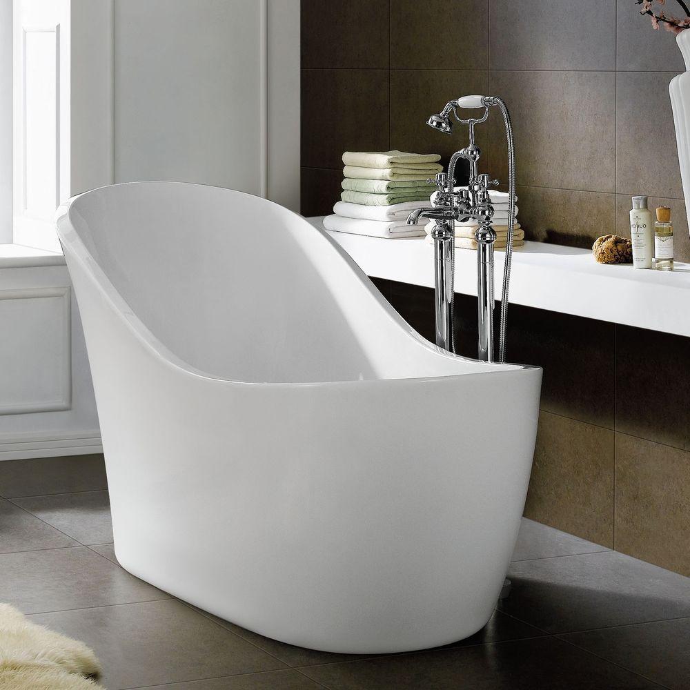 1520mm Freestanding Slipper Bath Modern Bathroom Acrylic