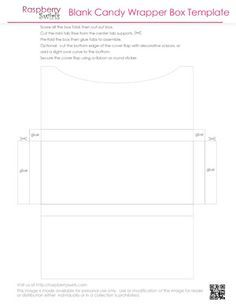 Free Printable Chocolate Candy Bar Wrapper Box Template Envelopes