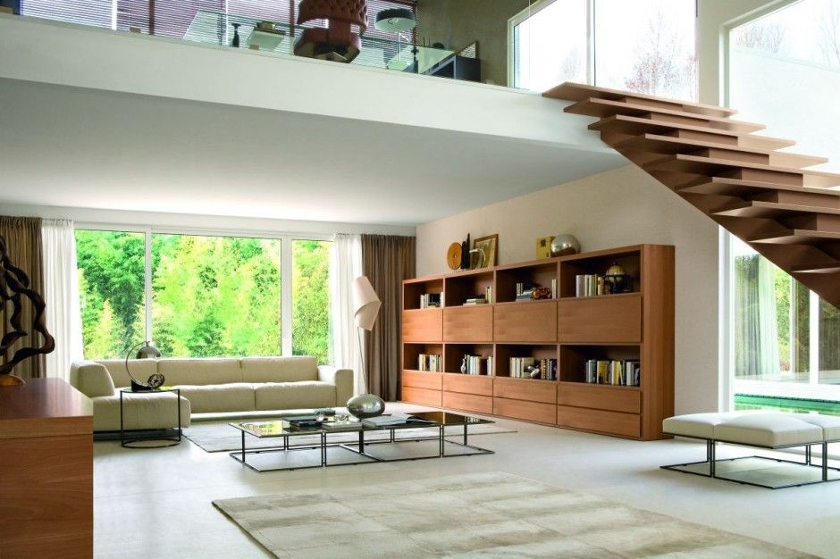 Modern Stairs Design In Living Room 3