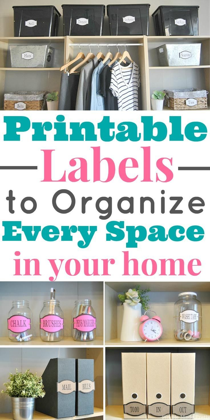 Printable Labels That Ll Organize Every Space In Your Home Linen Closet Organization Closet Organization Diy Pantry Labels