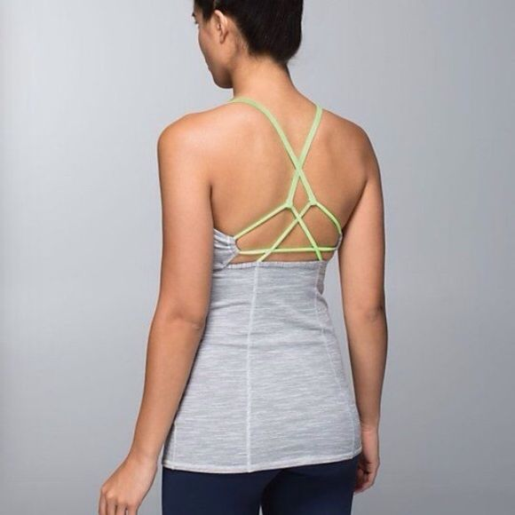 Dancing Warrior Silver Spoon tank strappy back Like new lululemon athletica Tops Tank Tops