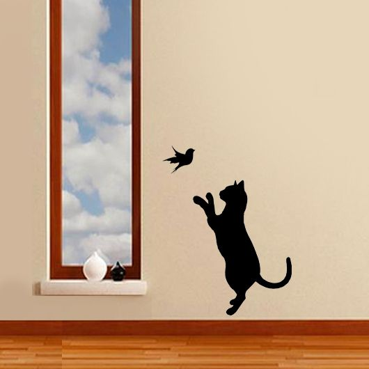 Cat Bird Stencil