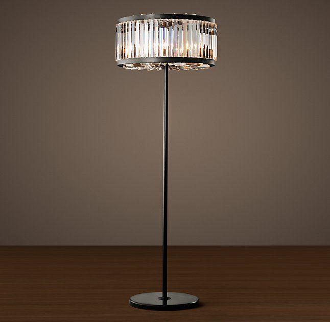 Welles Clear Crystal Floor Lamp Crystal Floor Lamp Floor Lamp Floor Lamp Grey